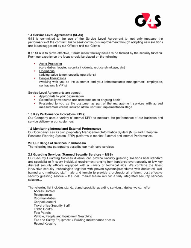 Security Guard Contract Template Unique G4s Security Services Pany Profile G4s