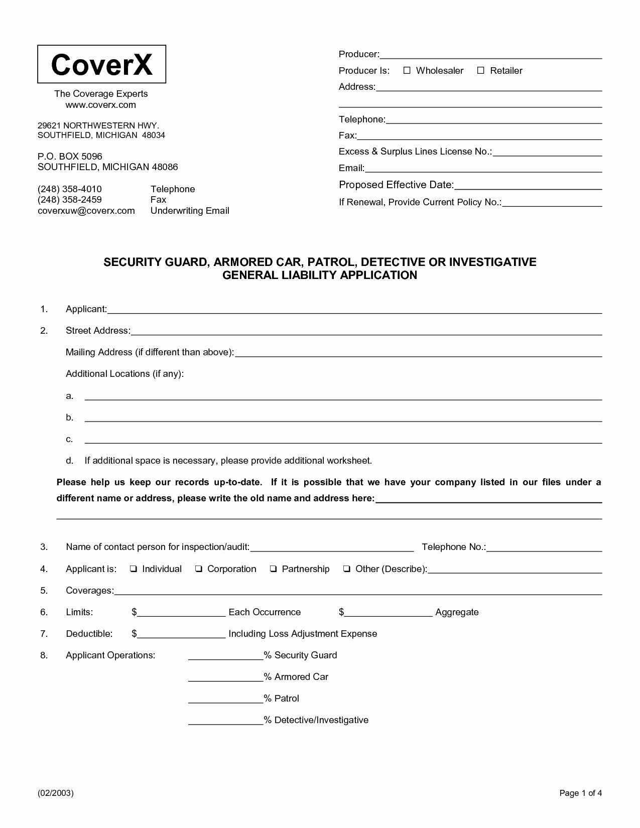 Security Guard Contract Template Unique Security Service Contract Template Free Choice Image