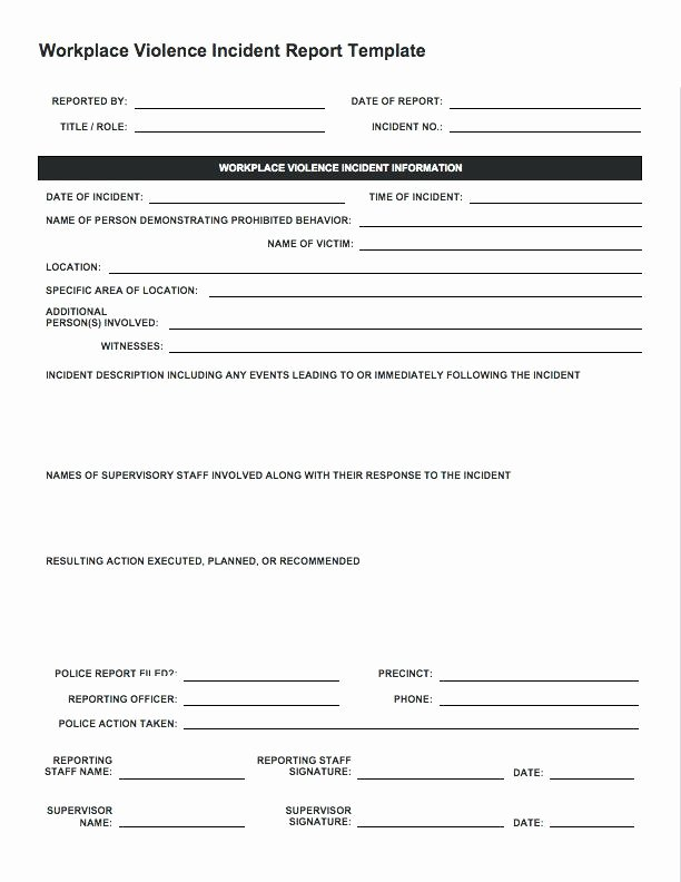 Security Guard Incident Report Template Elegant Security Guard Daily Report form Daily Activity Report