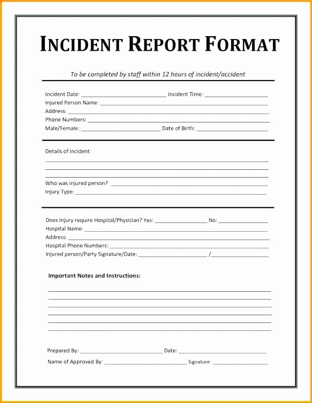 Security Guard Incident Report Template Inspirational Security Ficer Incident Report Template Guard Daily