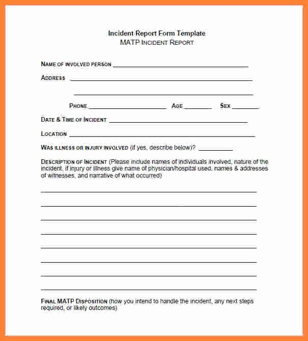 Security Guard Incident Report Template Lovely 4 Security Guard Incident Report Template