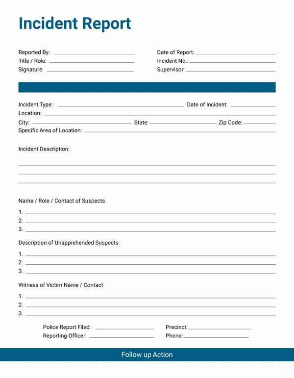 Security Incident Report Template Beautiful 33 Incident Report format