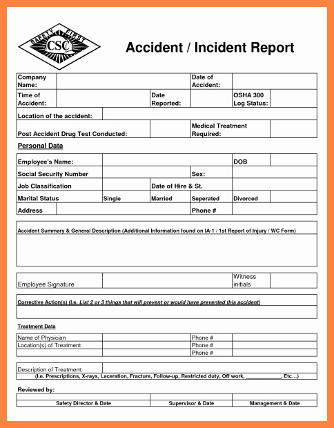 Security Incident Report Template Luxury 11 Information Security Incident Report Template