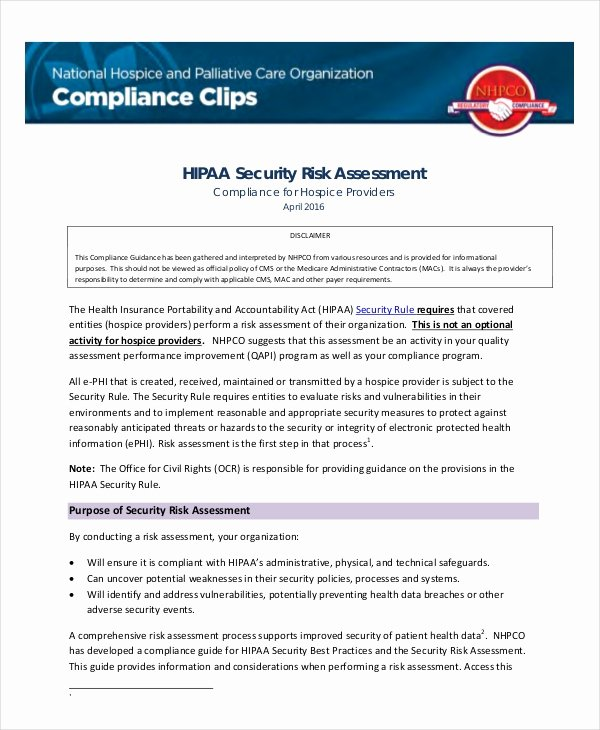 Security Risk Analysis Template Lovely 10 Security Risk assessment Templates Free Samples
