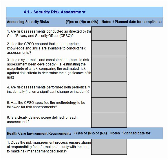 Security Risk assessment Template Best Of 10 Sample Security Risk assessment Templates Pdf Word