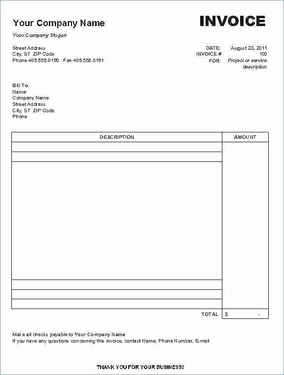 Self Employed Invoice Template Fresh Self Employed Invoice Template Free In for Business New to