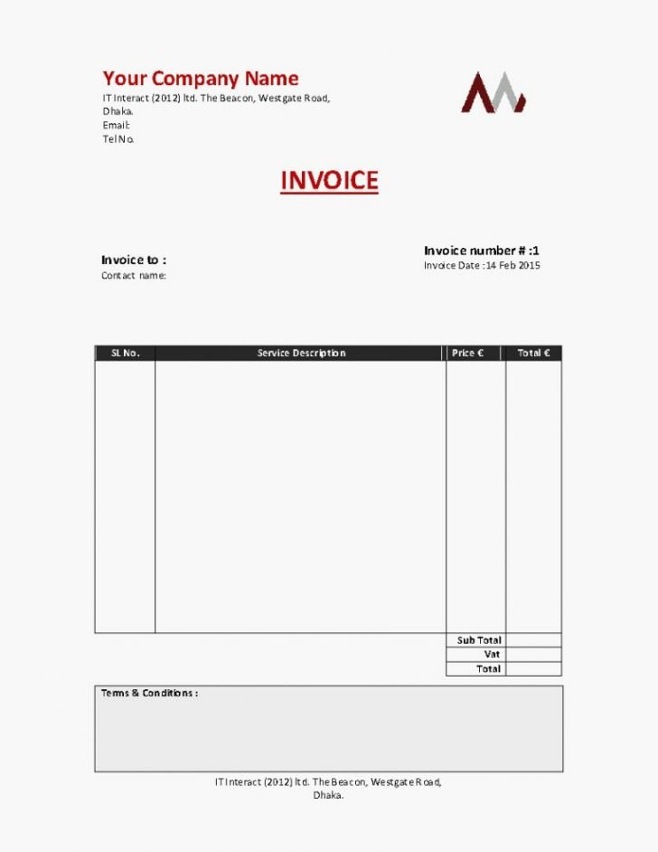 Self Employed Invoice Template New Invoice for Self Employed Template Denryokufo