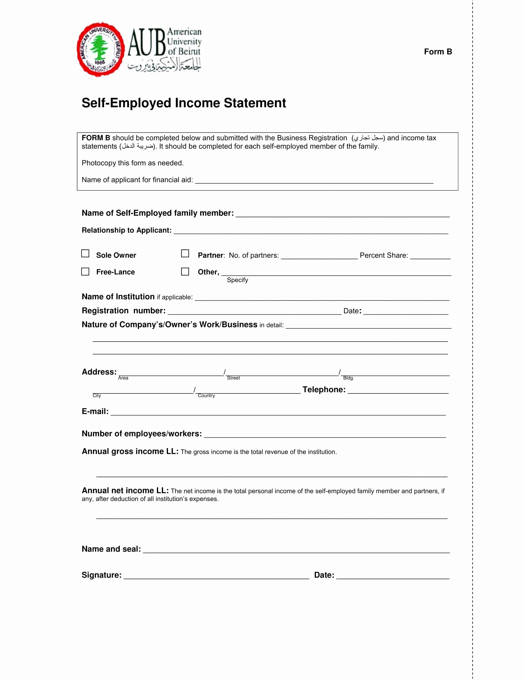 Self Employment Income Statement Template Best Of 9 Annual In E Statement Template Irpens
