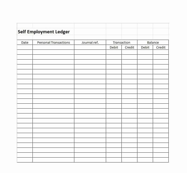 Self Employment Income Statement Template New Self Employment Ledger 40 Free Templates & Examples