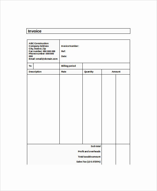 Self Employment Invoice Template Best Of 4 Self Employed Invoice Examples & Samples