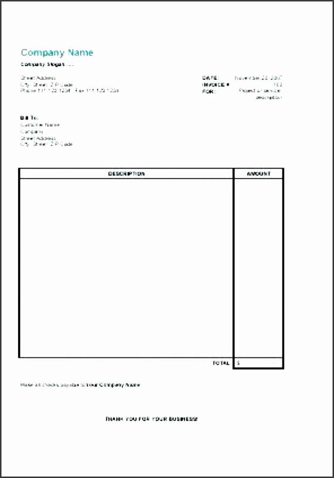 Self Employment Invoice Template Lovely 5 Invoice Template for Self Employed Sampletemplatess