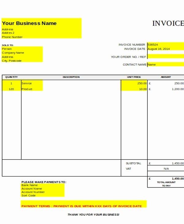 Self Employment Invoice Template Unique Self Employed Invoice Template Uk Self Employed Invoice