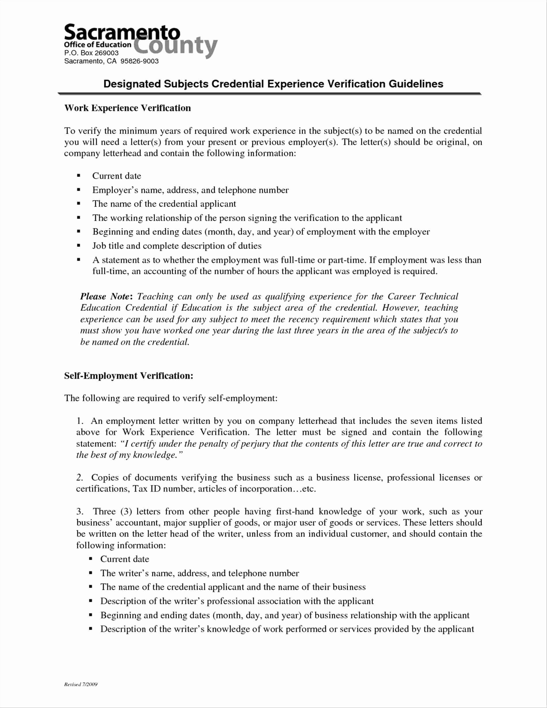 Self Employment Letter Template Awesome Cpa Letter for Self Employed Template Collection
