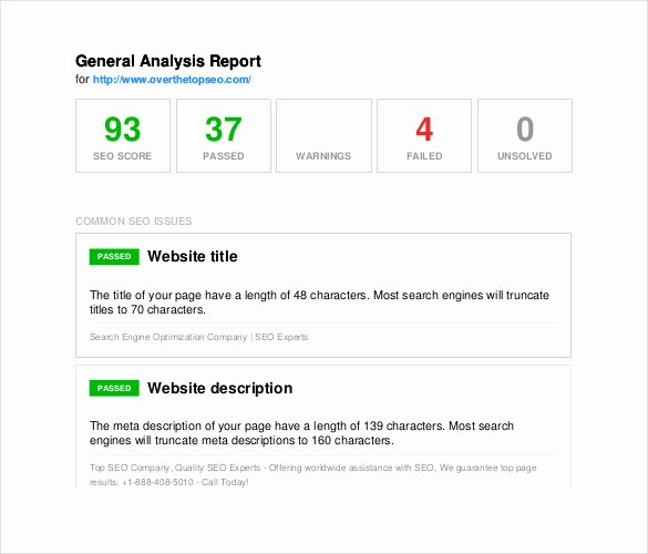 Seo Audit Report Template Best Of 13 Seo Report Templates Free Sample Example format