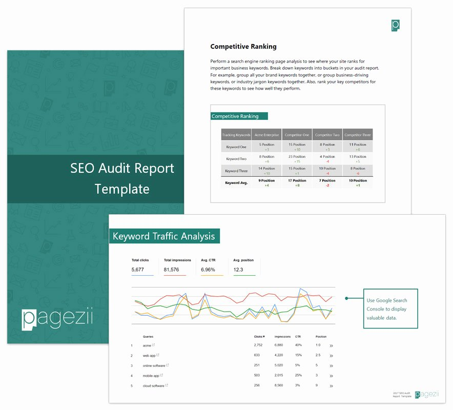 Seo Audit Report Template Best Of Build Your Sample Seo Report Template