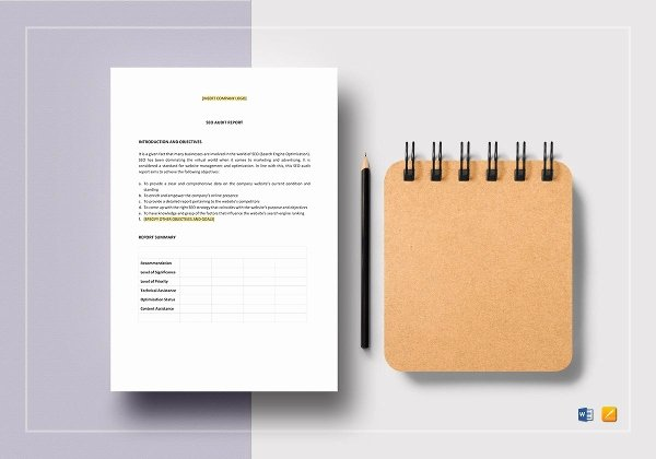 Seo Audit Report Template Elegant 28 Audit Report Templates Free Sample Pdf Word format