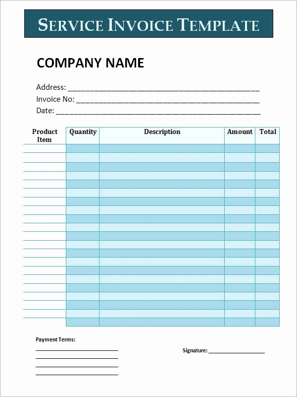 Service Invoice Template Pdf Best Of Free Editable Invoice Templates