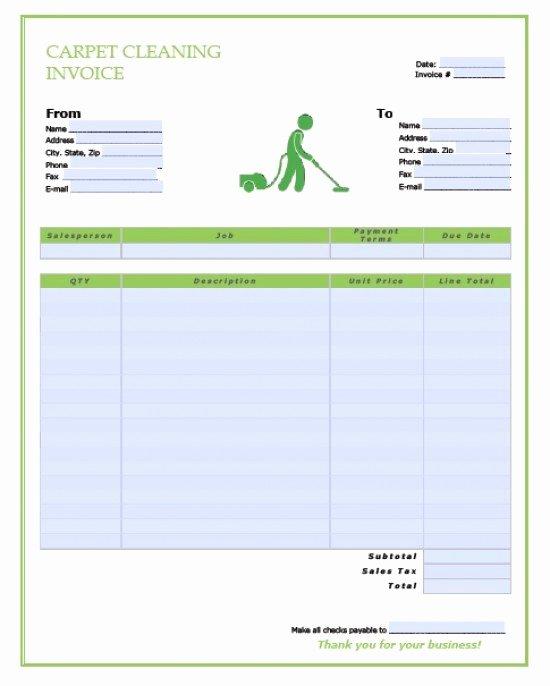Service Invoice Template Pdf Fresh Free Carpet Cleaning Service Invoice Template