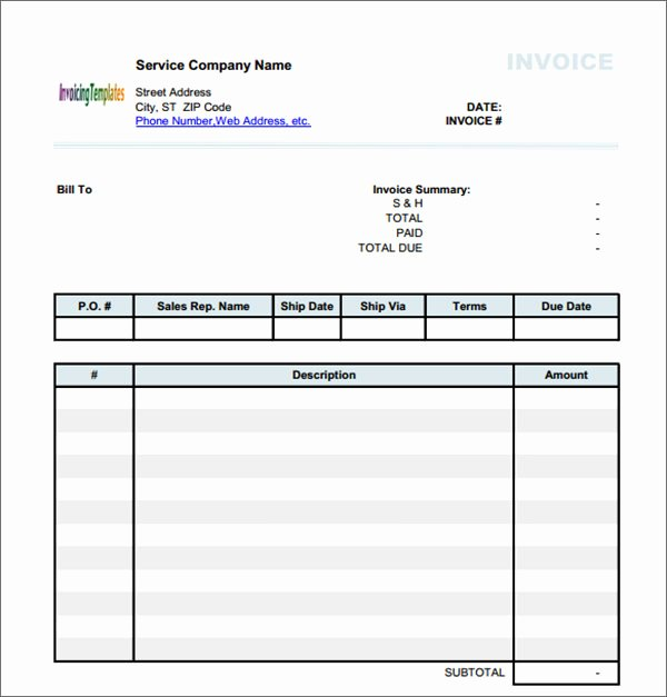 Service Invoice Template Pdf Inspirational Service Invoice 28 Download Documents In Pdf Word