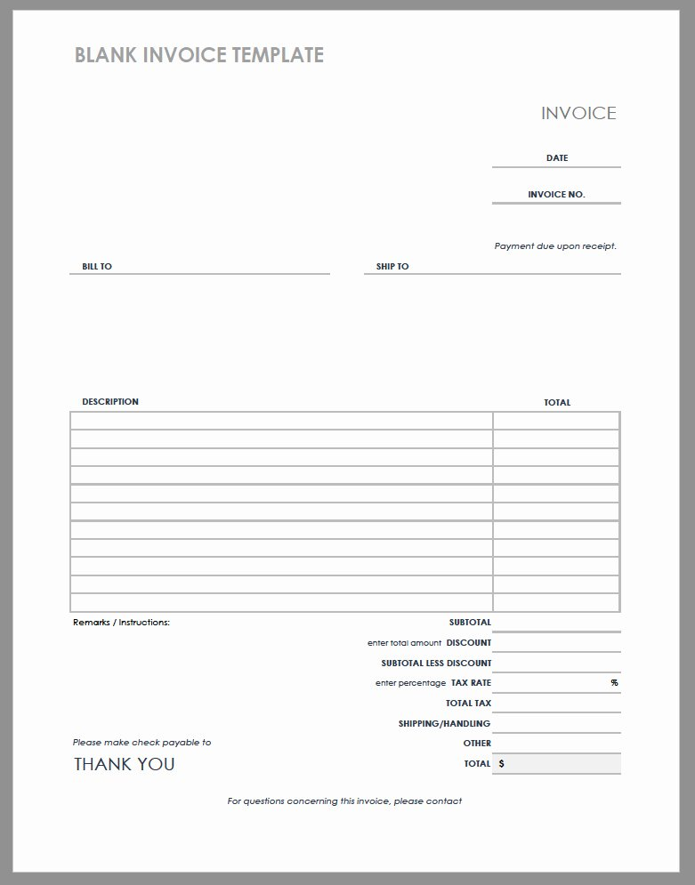 Service Invoice Template Pdf Lovely 55 Free Invoice Templates