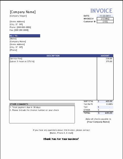 Service Invoice Template Pdf Lovely top 5 Best Invoice Templates to Use for Business