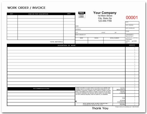Service Work order Template New Auto Repair Estimate Template