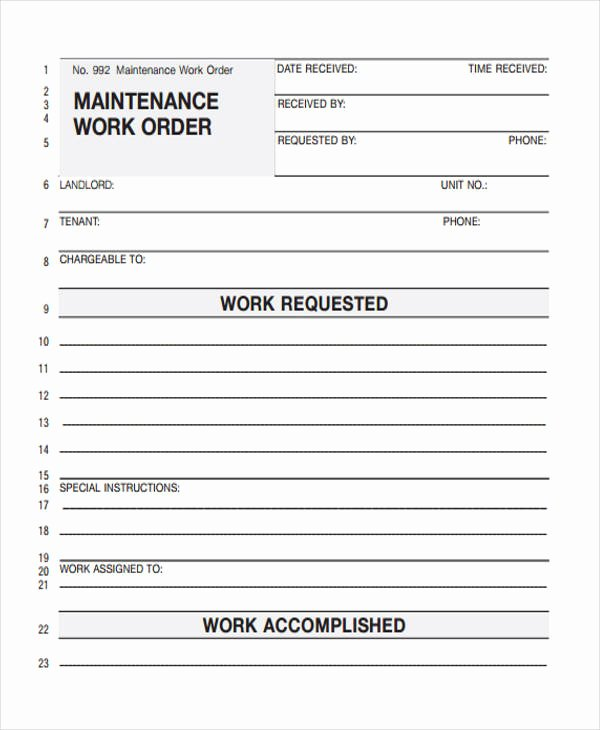 Service Work orders Template Unique 28 Work order Templates Ai Psd