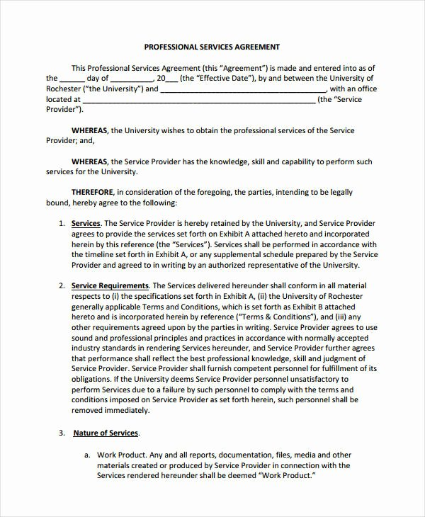 Shared Services Agreement Template Awesome 10 Simple Service Agreements Word Pdf