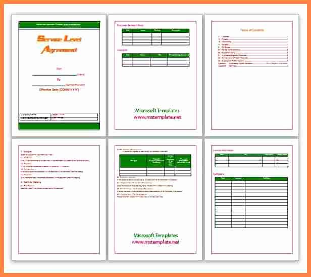 Shared Services Agreement Template Awesome 4 Shared Services Service Level Agreement Template