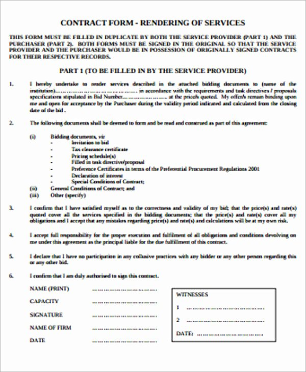 Shared Services Agreement Template Best Of 15 Simple Service Contract Samples