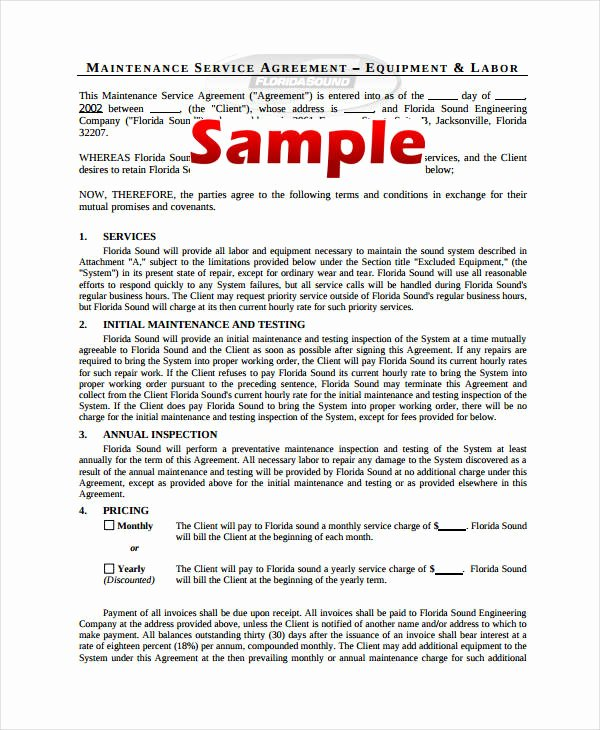 Shared Services Agreement Template Fresh 10 Simple Service Agreements Word Pdf