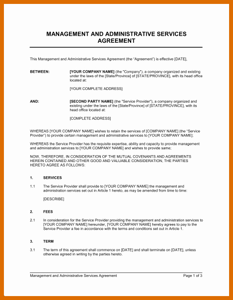 Shared Services Agreement Template Lovely 6 7 Sample Service Agreement