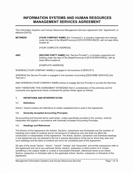 Shared Services Agreement Template New D Services Agreement Template