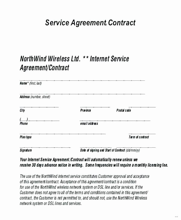 Shared Services Agreement Template New Managed Service Provider Contract Template Free