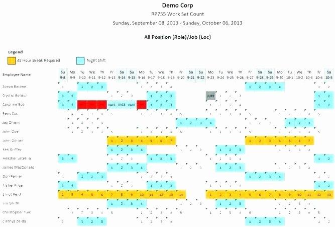 Shift Work Calendar Template Elegant Rotating Work Schedule Template Shift Schedule Template