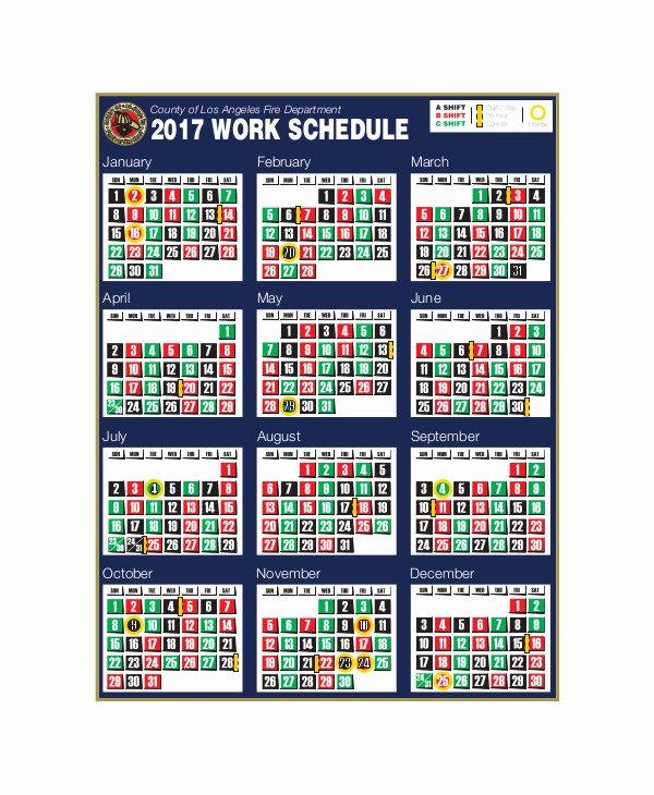 Shift Work Calendar Template Inspirational 3 Shift Calendar Templates Pdf