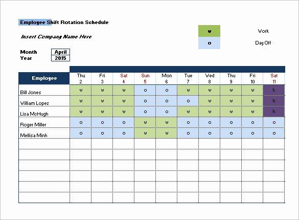 Shift Work Calendar Template Inspirational Shift Schedule Templates – 12 Free Word Excel Pdf