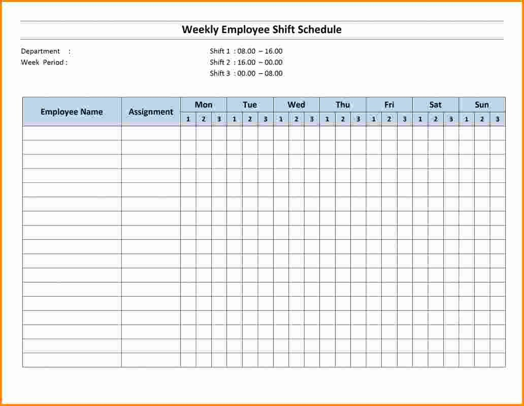 Shift Work Calendar Template Unique Free Weekly Employee Schedule Template Excel