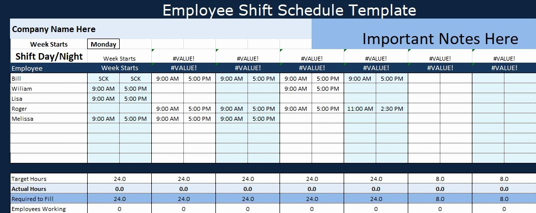 Shift Work Schedule Template Awesome Employee Shift Schedule Template