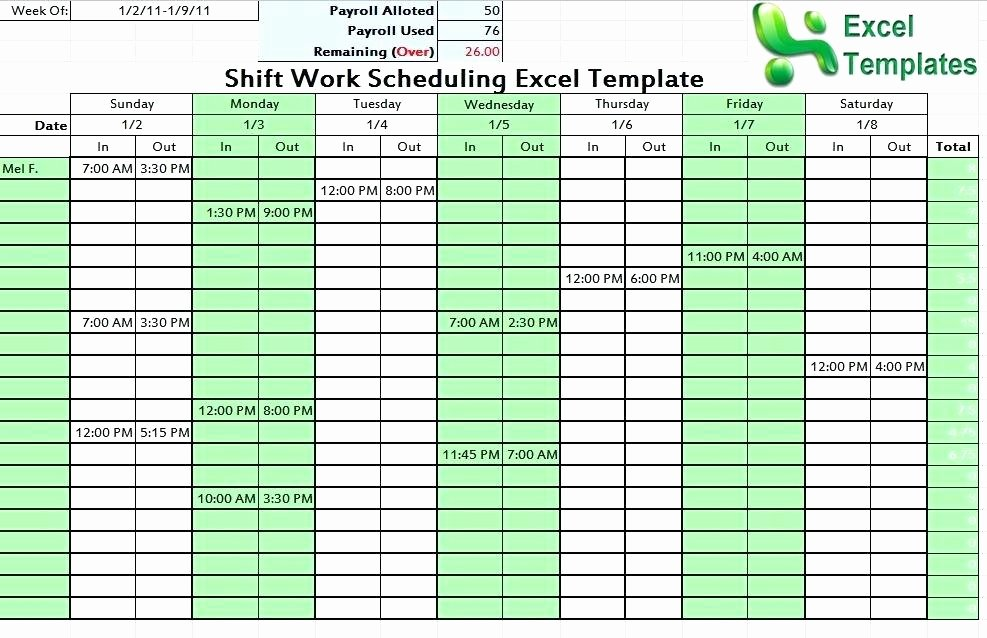 Shift Work Schedule Template New Employee Schedule Template Excel E the Easiest Ways