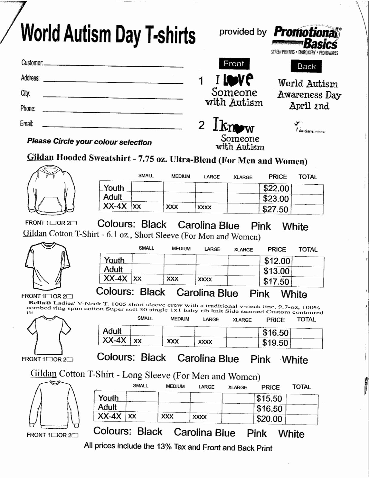 Shirt order form Template Awesome Spirit Wear form Pta Pinterest