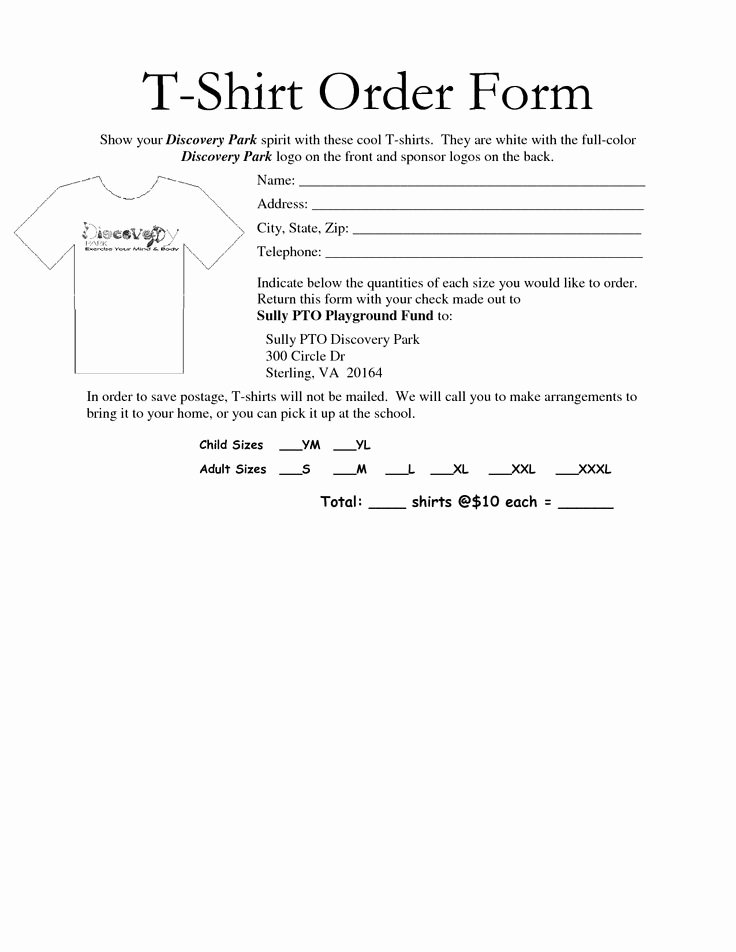 Shirt order form Template Fresh 35 Awesome T Shirt order form Template Free Images