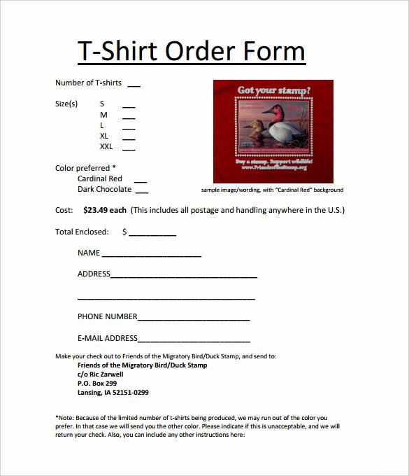 Shirt order form Template New 26 T Shirt order form Templates Pdf Doc
