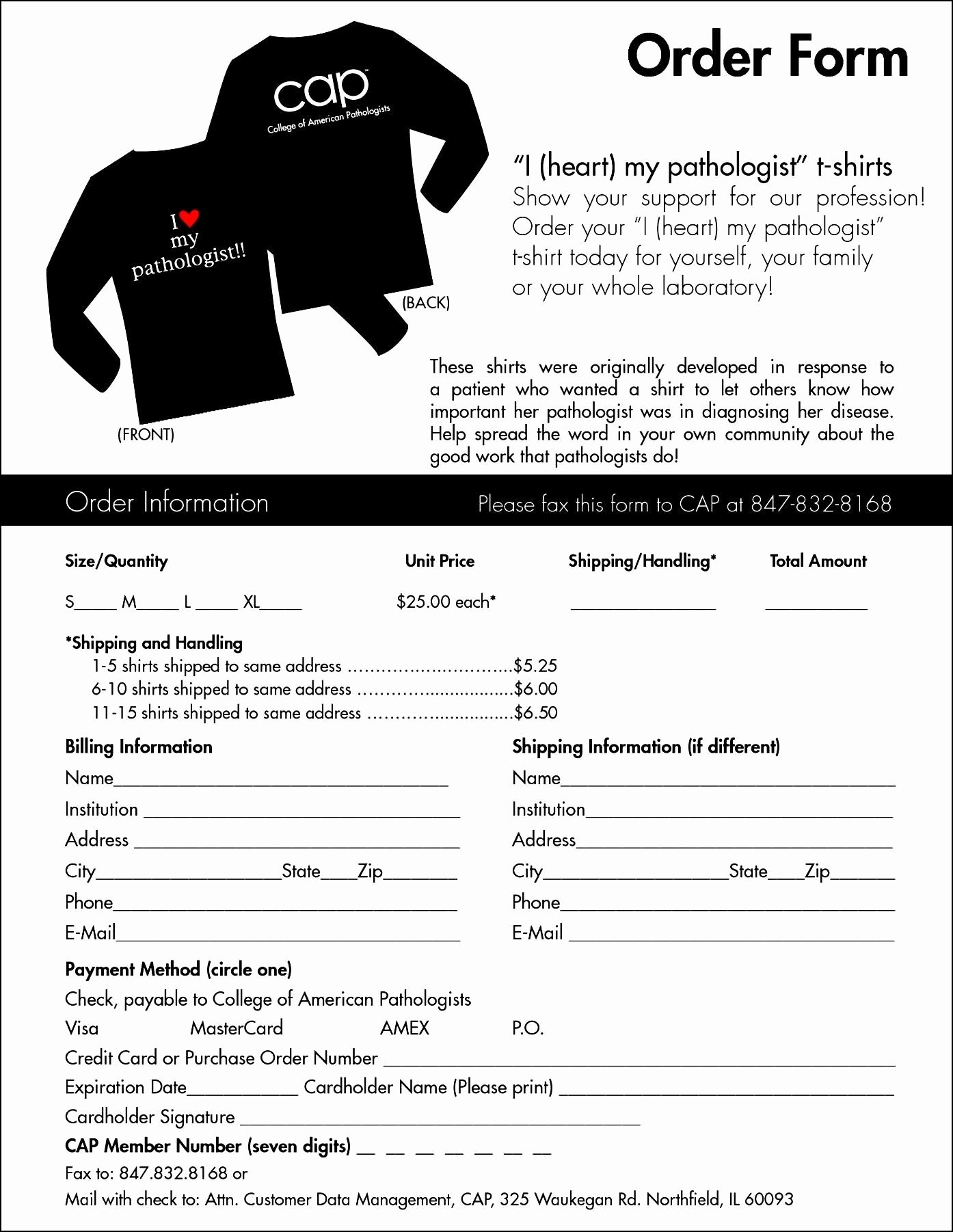 Shirt order forms Template Best Of T Shirt order form Template Microsoft Word