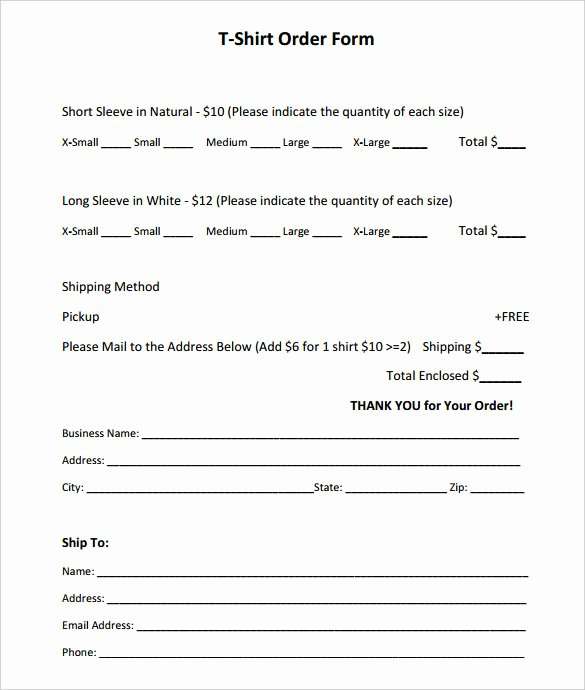 Shirt order forms Template Elegant 26 T Shirt order form Templates Pdf Doc