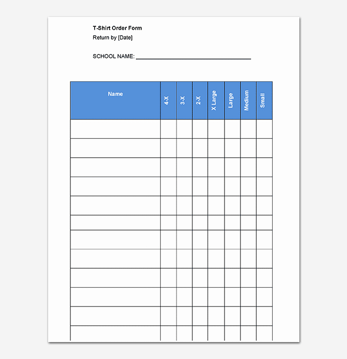 Shirt order forms Template Elegant T Shirt order form Template 17 Word Excel Pdf