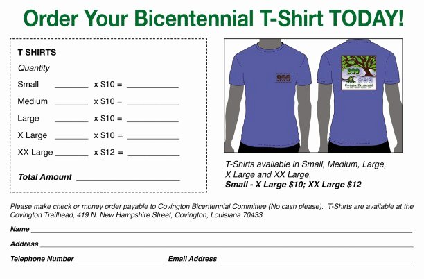 Shirt order forms Template Inspirational Printable T Shirt order forms Templates Excel Template
