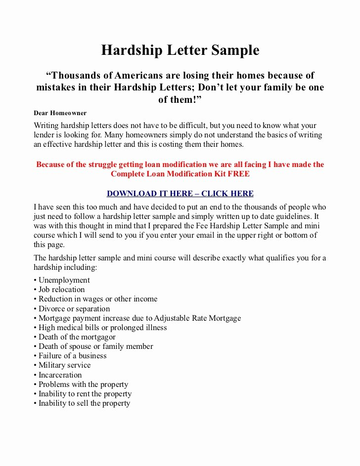 Short Sale Hardship Letter Template Beautiful Hardship Letter Sample and Testimony