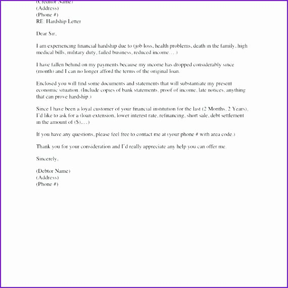 Short Sale Hardship Letter Template Elegant Hardship Letter Samples for Loan Modification and Mortgage