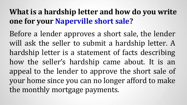 Short Sale Hardship Letter Template Inspirational How to Write A Hardship Letter for Your Naperville Short Sale